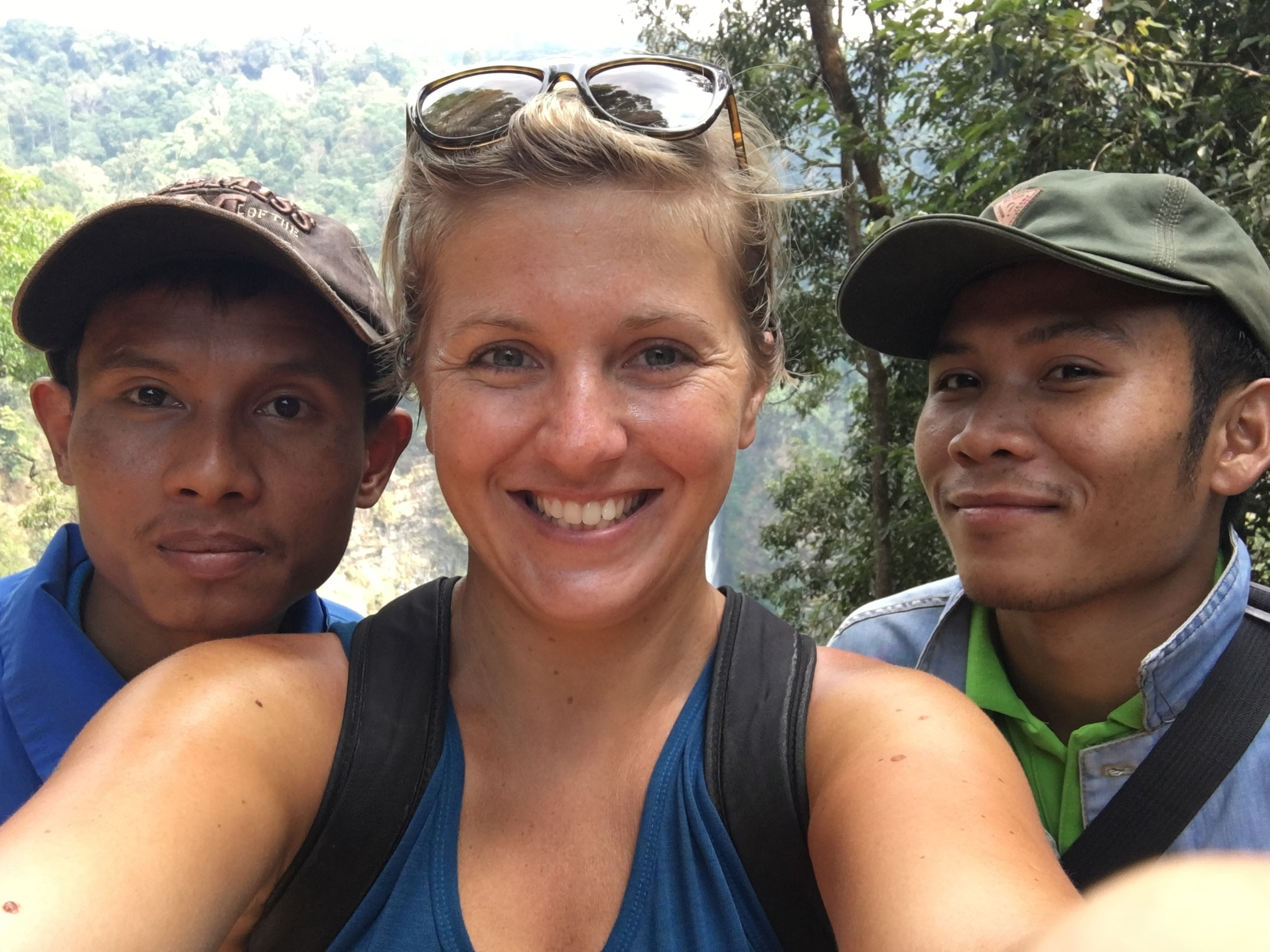 Lovely tour guides in Pakse, Laos
