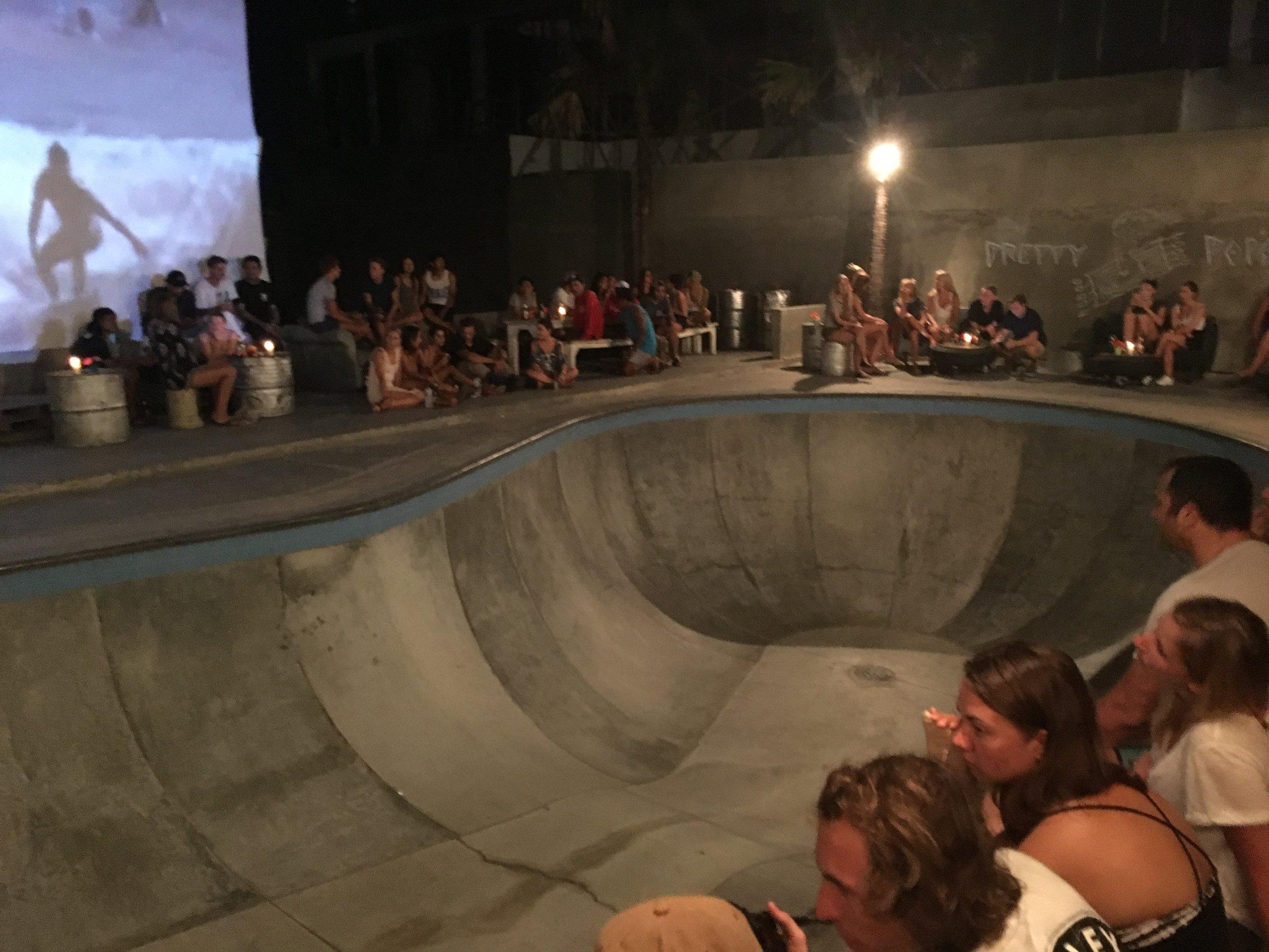 Skateboard park turned bar