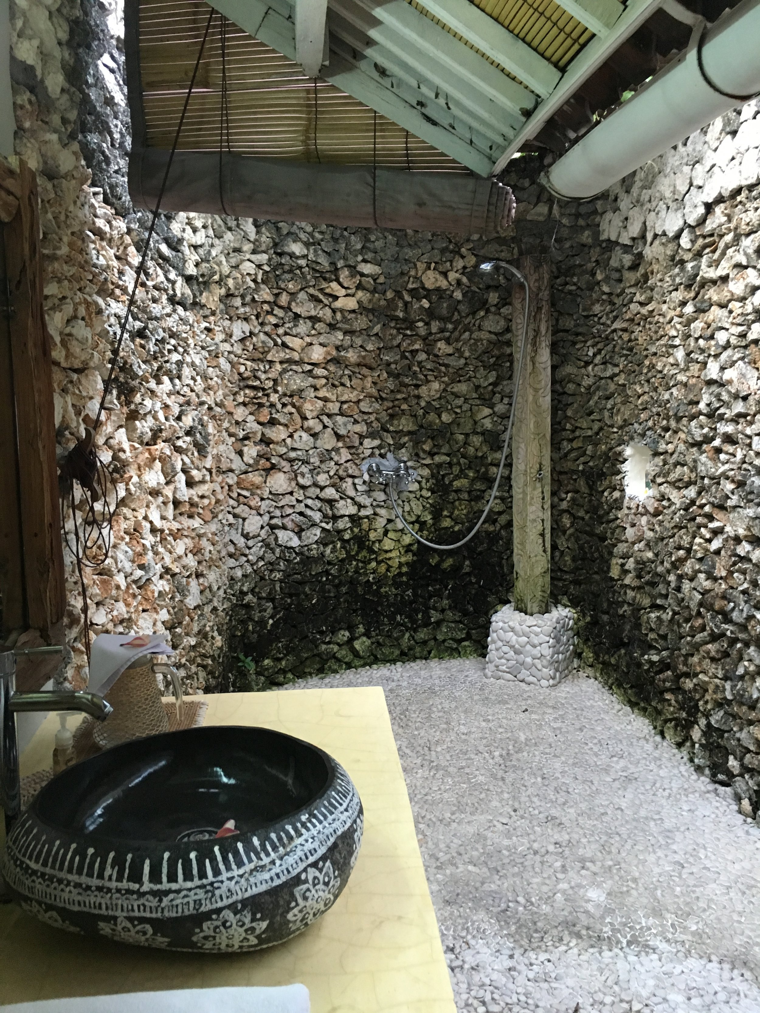 Outdoor rain shower