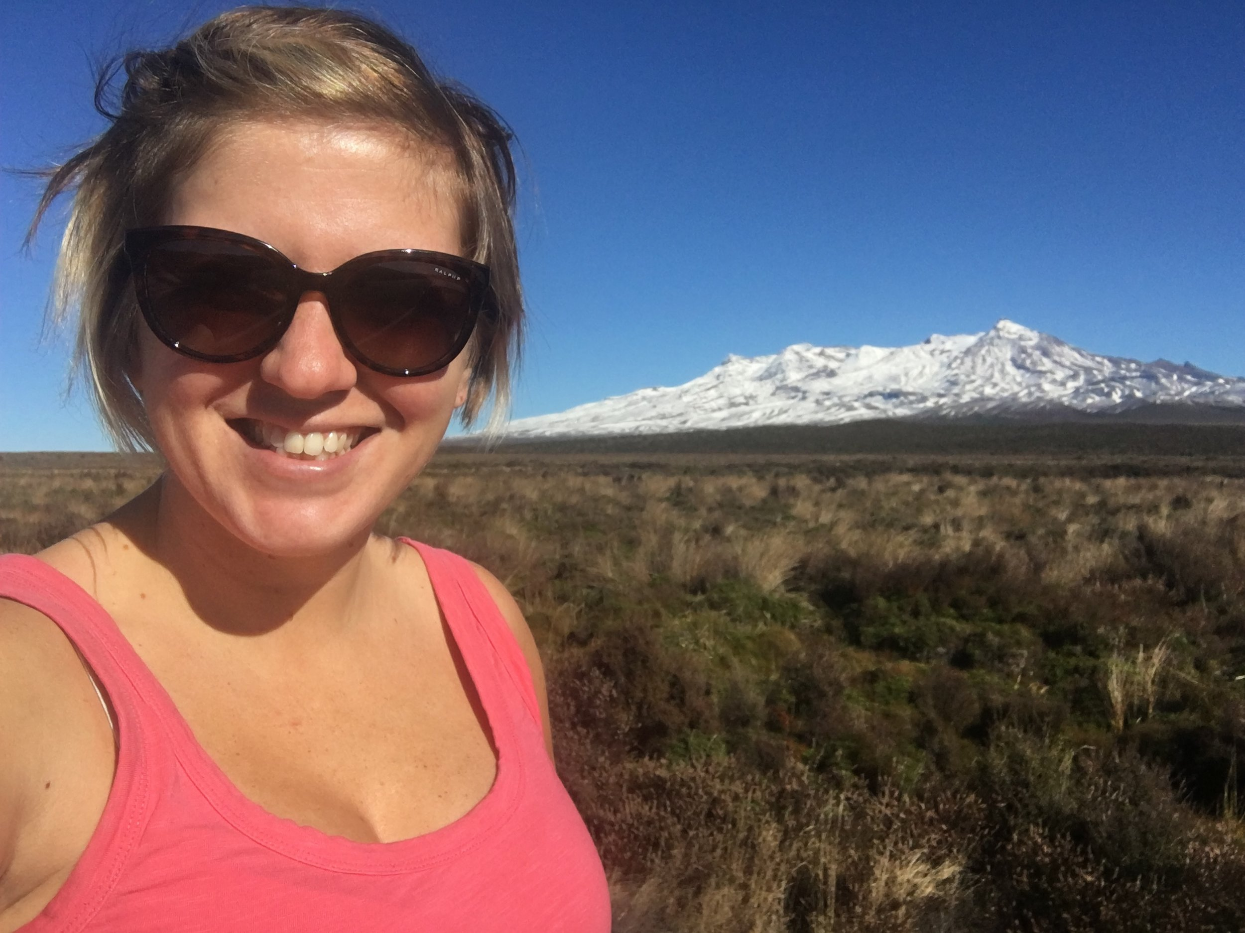 Yours truly and Mount Ruapehu