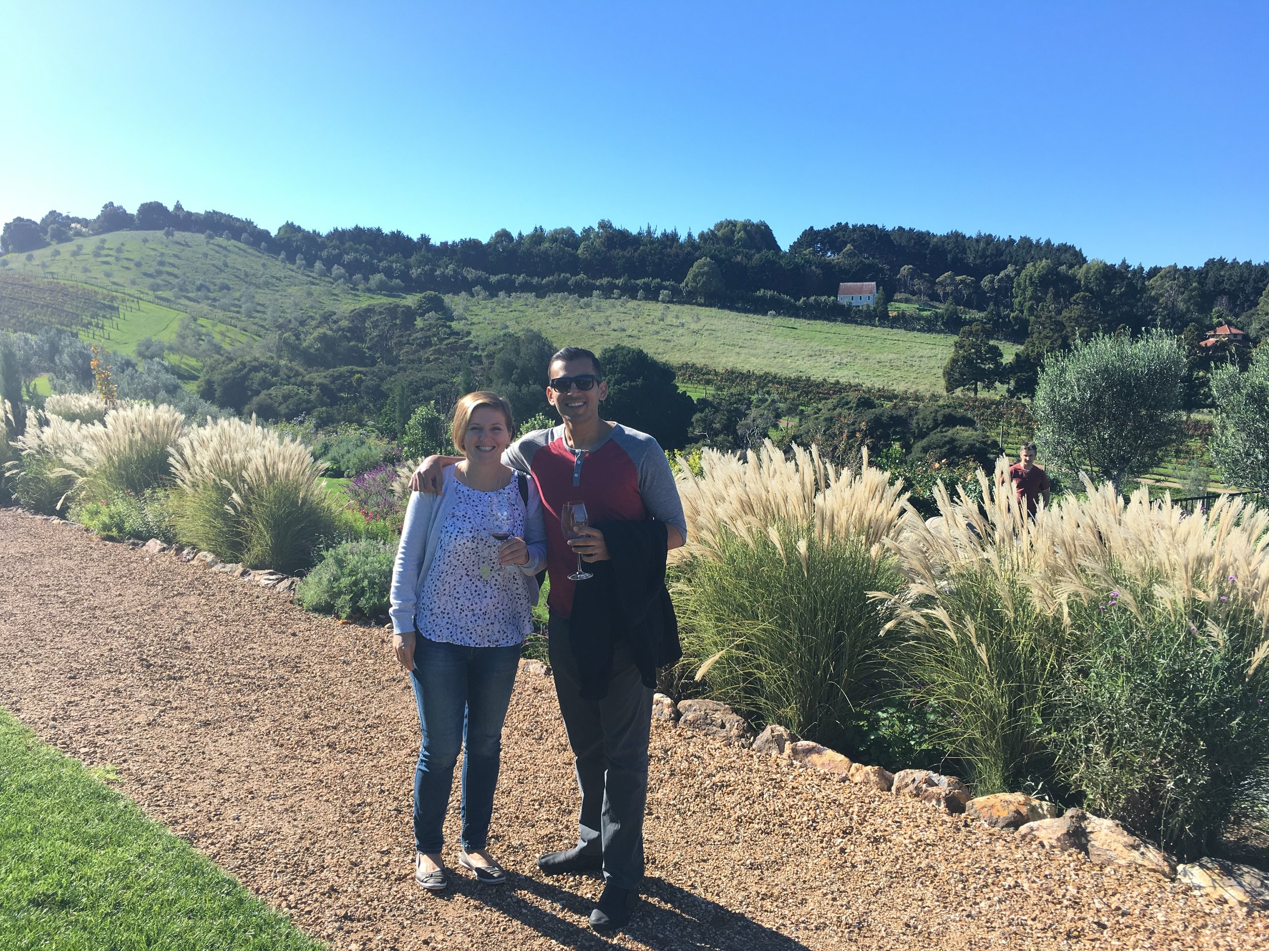 Showing my old colleague Neil around Waiheke