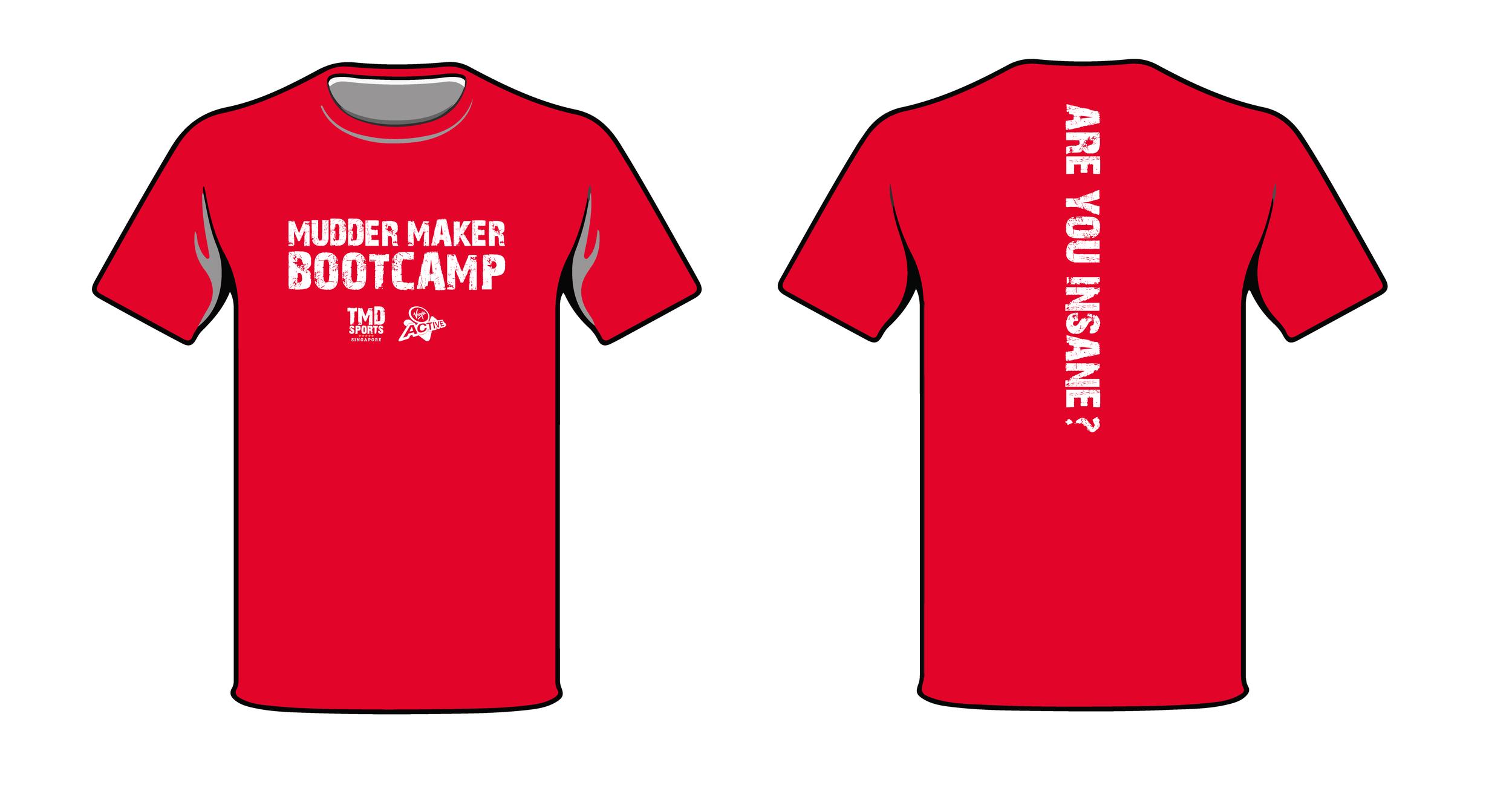 Virgin Active TMDsports Mudder Maker Bootcamp T-shirt