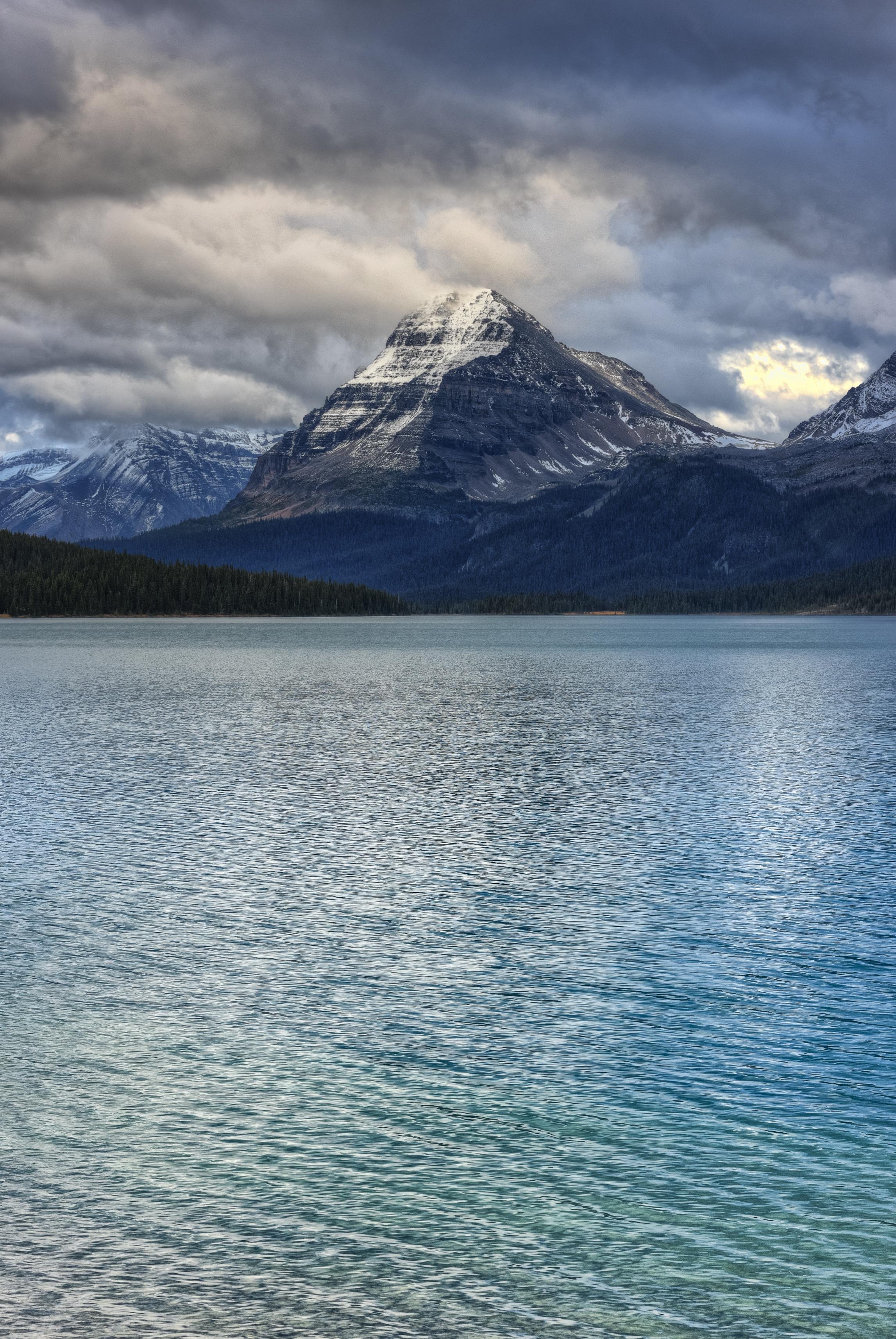 Bow Lake and Mountain, Alberta