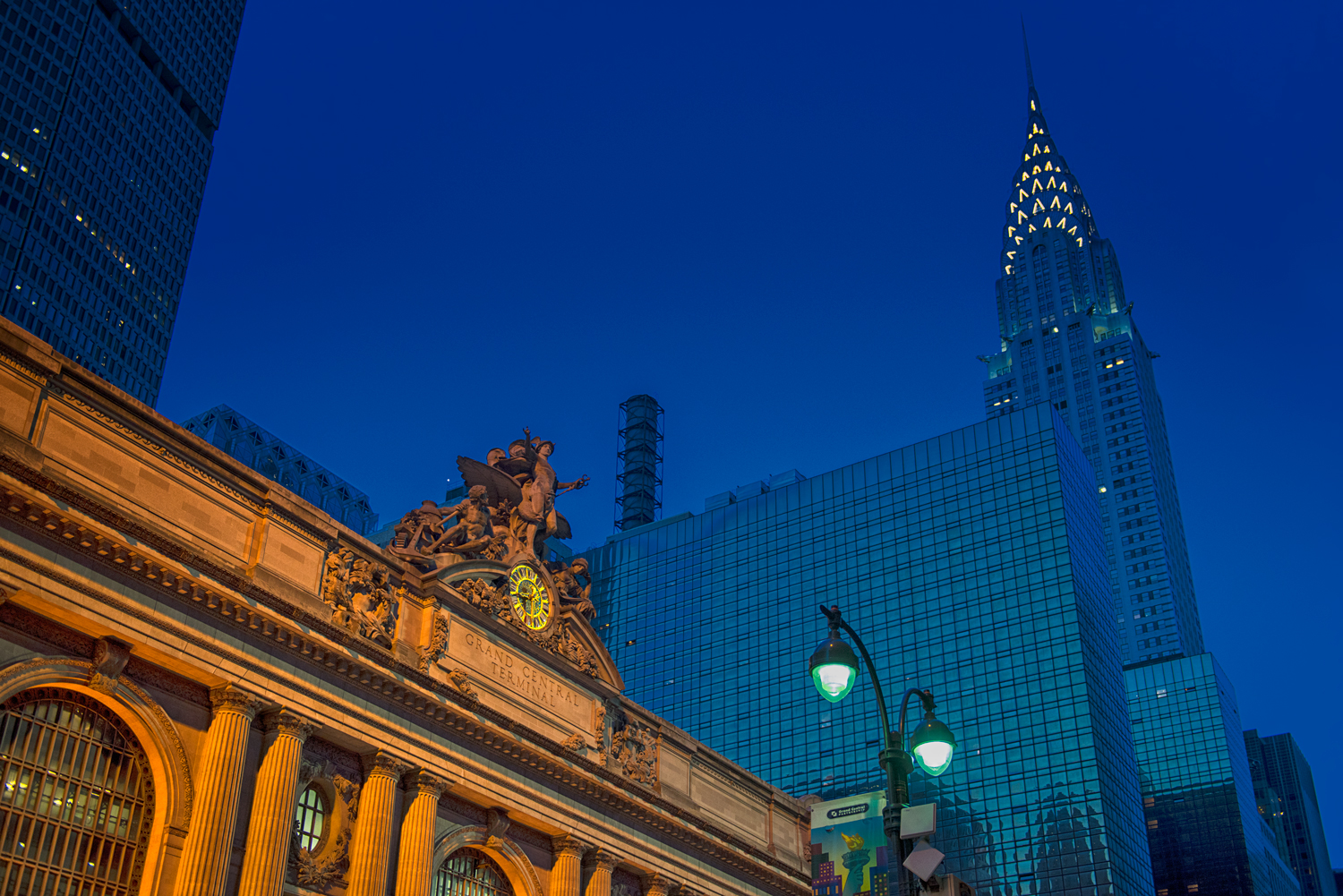 Grand Central and The Chrysler Building, NYC (File 9792) - Leslie picked 10/92This is from May 30th, 2015. I was out that evening hoping to get a shot of Manhattanhenge, but the clouds obscured my chances. As the sun went down, the sky cleared enough to get this. My favorite building in NYC. It's handheld so not as sharp as I would like. I'd totally forgotten about this photo. (L&M Filename 9792)