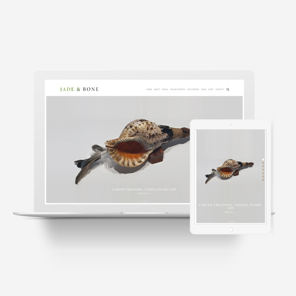 Jade and Bone - Manawa Website Design Showcase