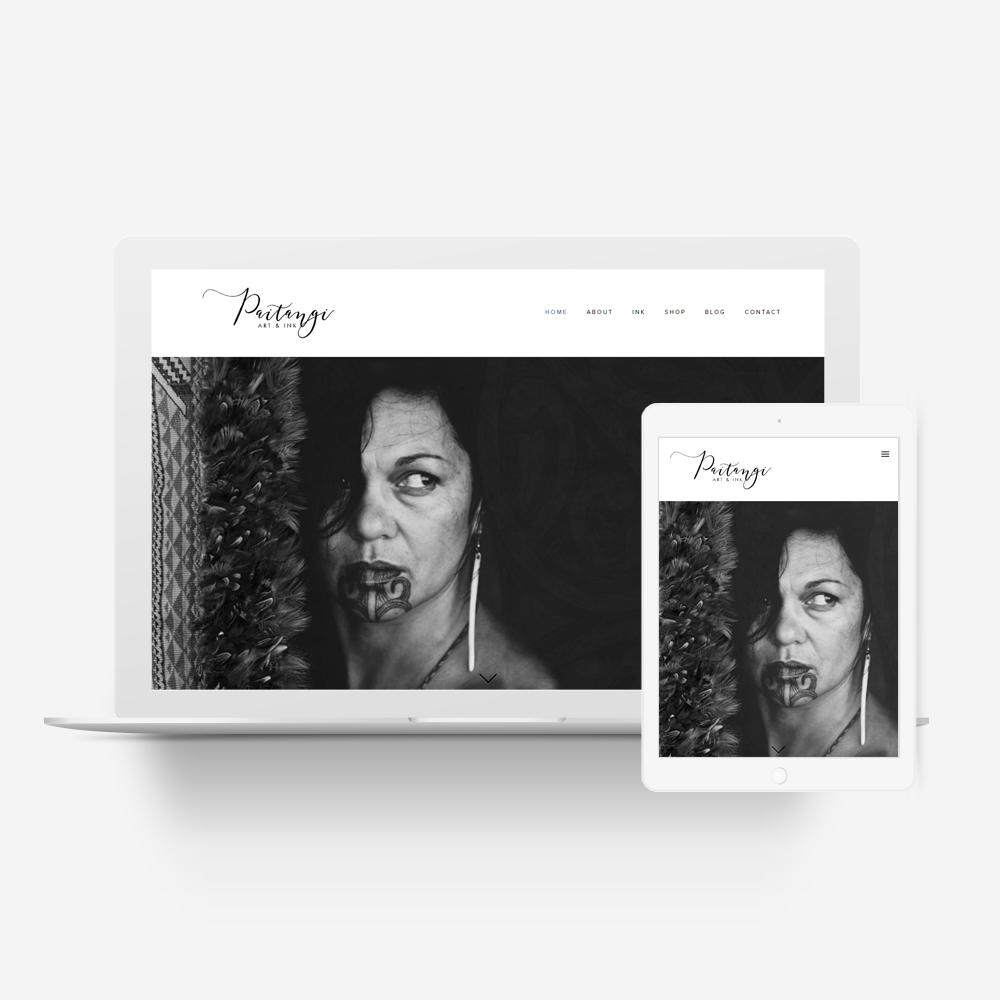 Paitangi Art and Ink - Manawa Website Design Showcase