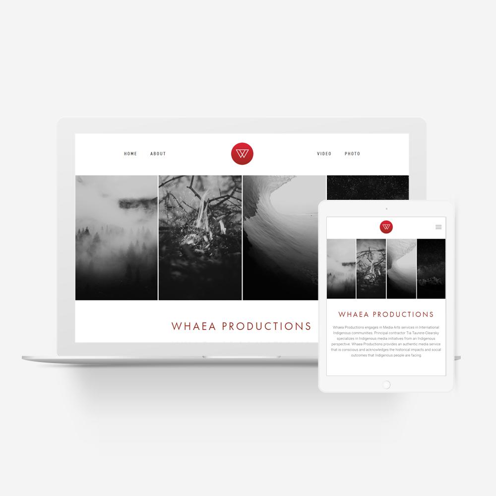 Whaea Productions - Manawa Design Website Showcase