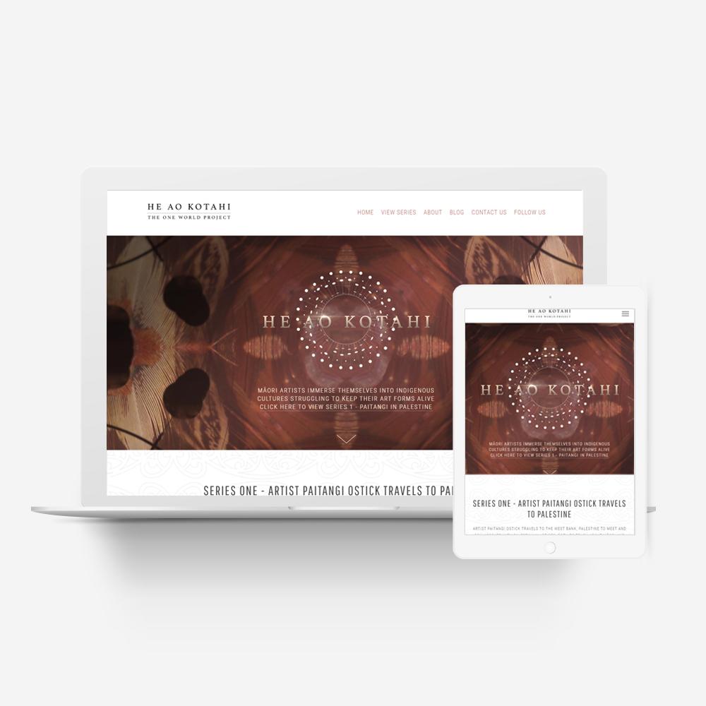 He Ao Kotahi - Manawa Design Website Showcase