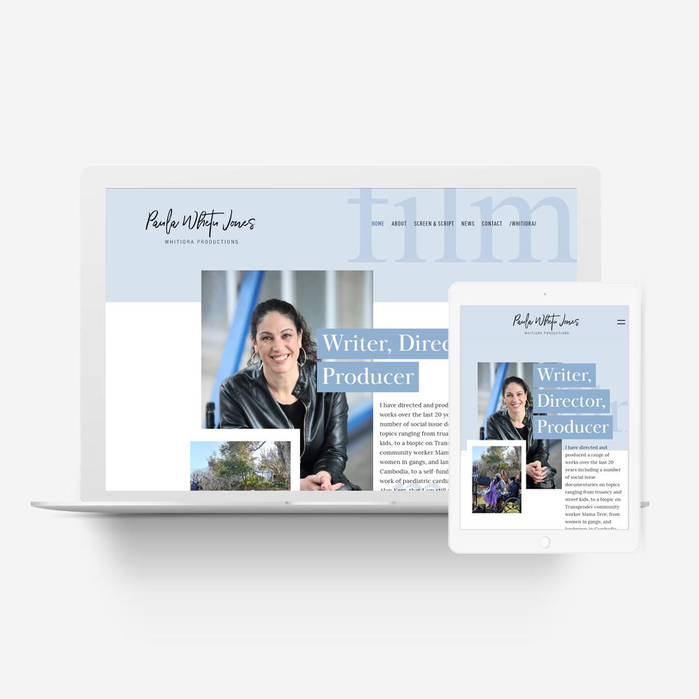 Paula Whetu Jones Manawa Website Design Showcase