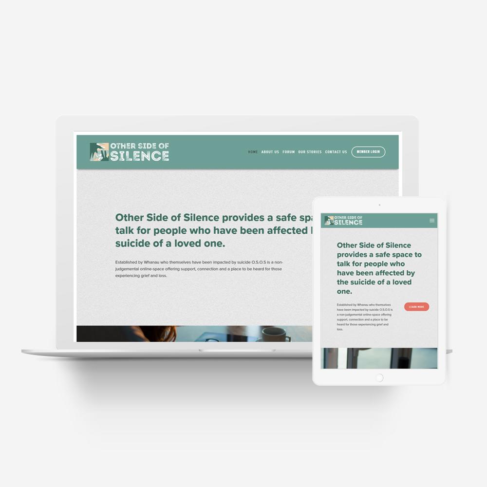 Other Side of Silence - Manawa Website Design Showcase