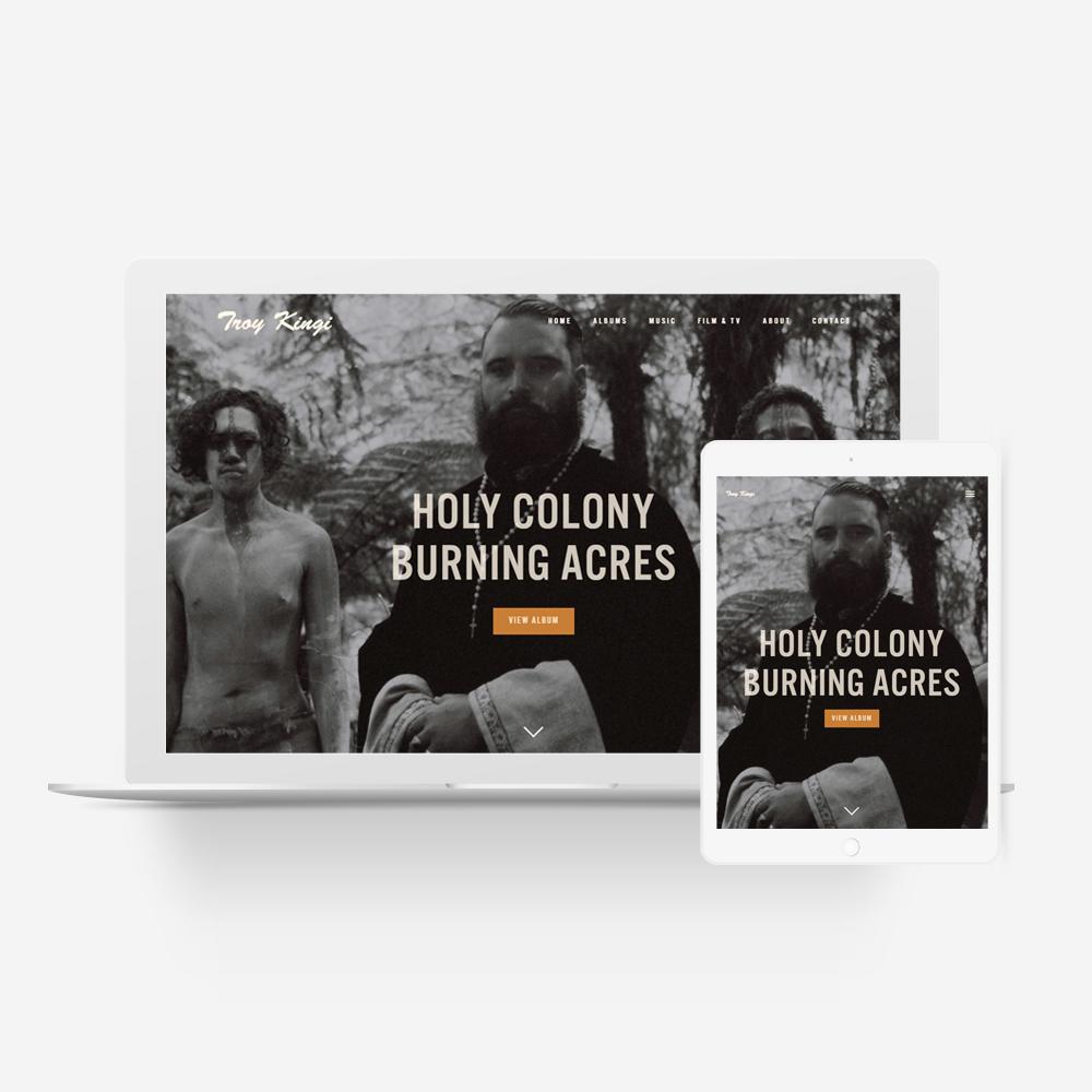 Troy Kingi - Manawa Website Design Showcase