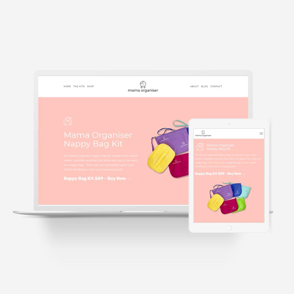 Mama Organiser - Manawa Website Design Showcase