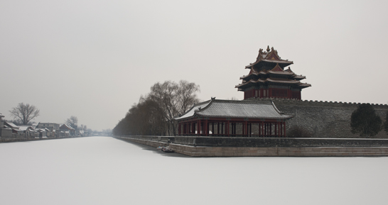(North-east bell tower of the Forbidden City, Beiing, Feb. 8, 2014)