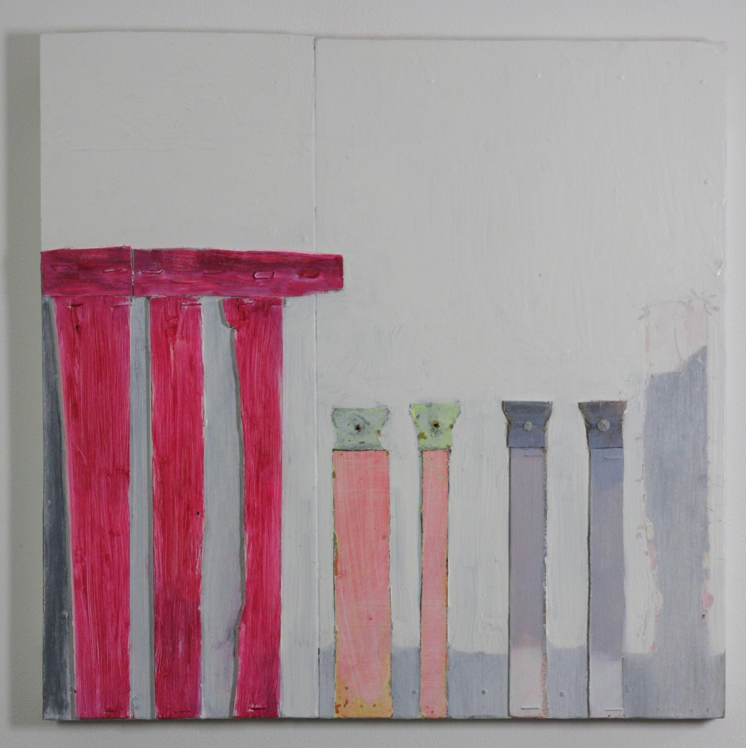 Above: 'Untitled (Pantheon)', assemblage (44 x 44cm), 2015