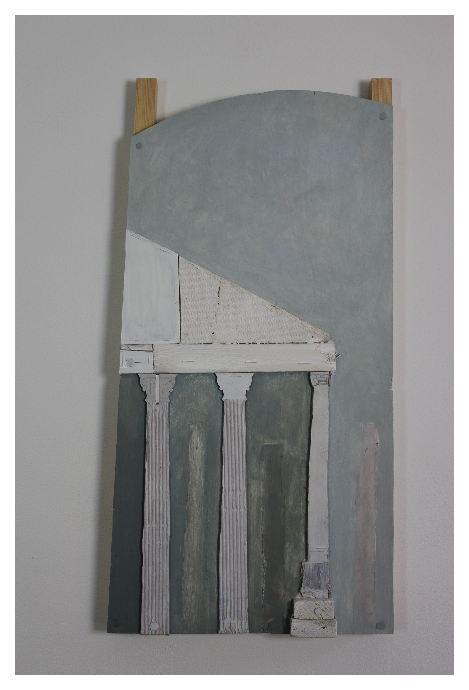 Above: 'For Sale', assemblage (54 x 28cm), 2015