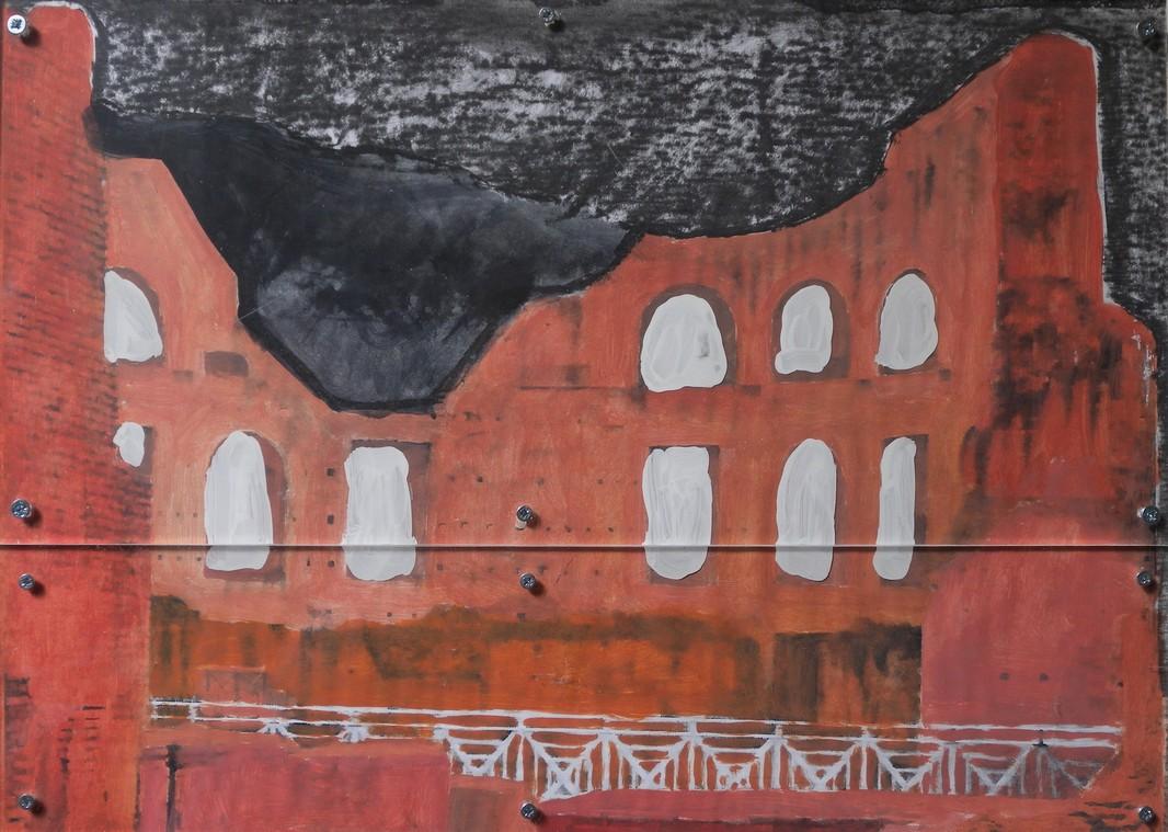 'Palatine', assemblage (31 x 42cm), 2016