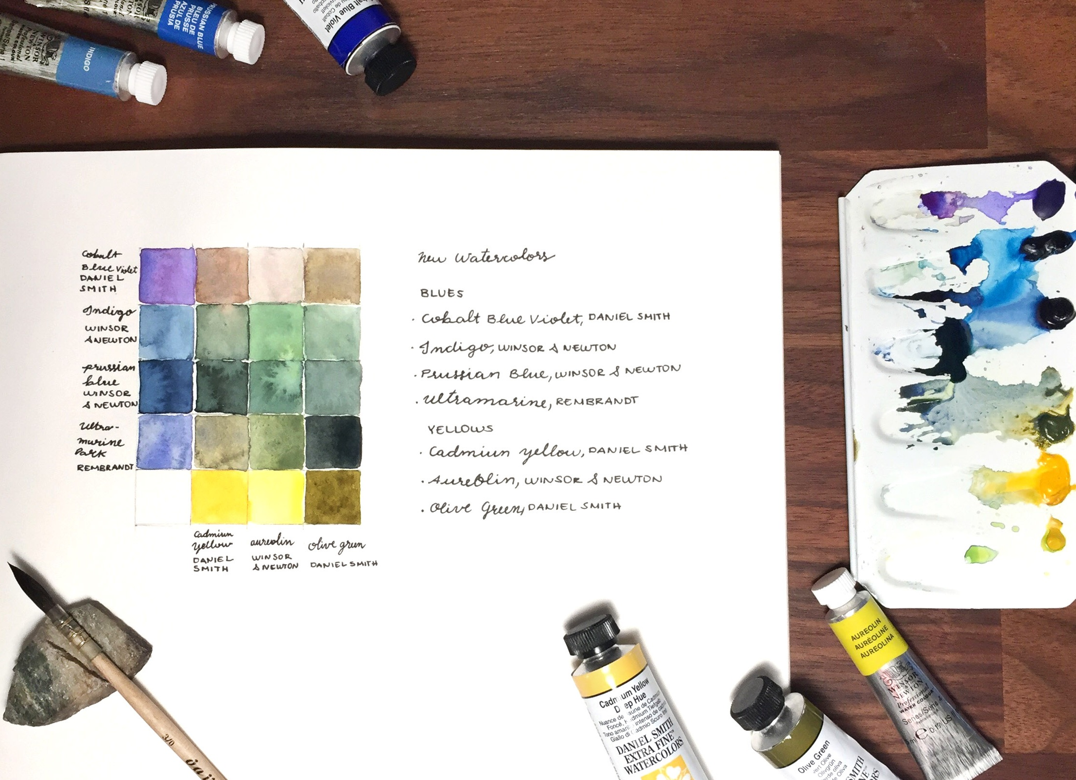 Colour Study using yellows & blues