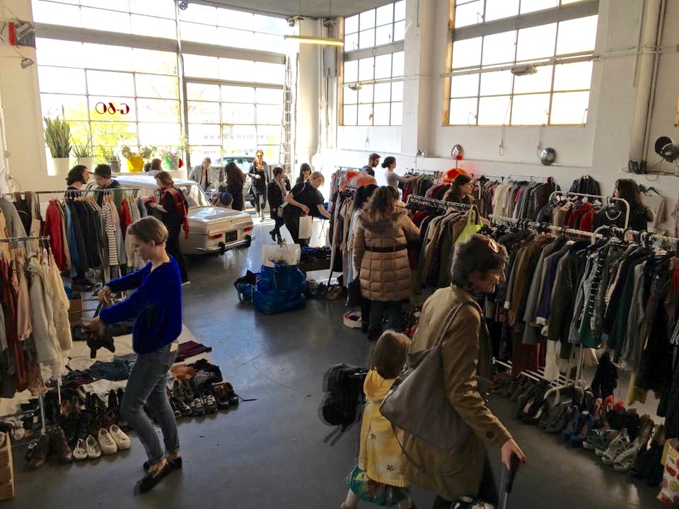 Picture taken by Séverine Saas,at the vide dressing G60 that hold place in Lausanne last Saturday 16.