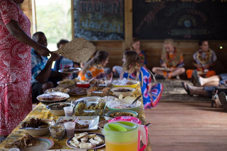 A celebratory meal in Naweni