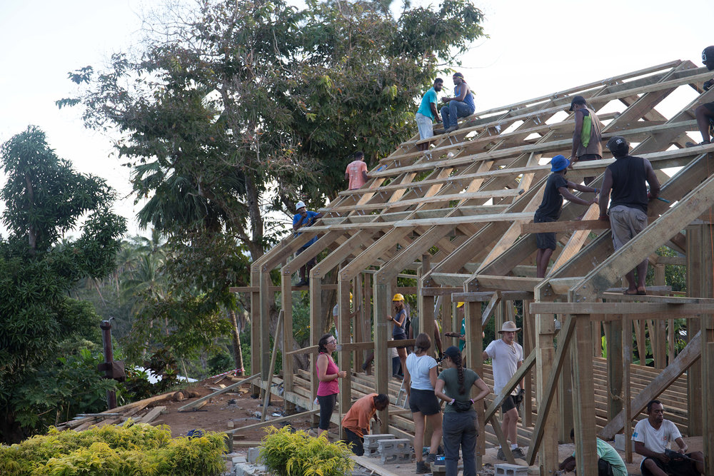 The structure in Vivili is almost finished!