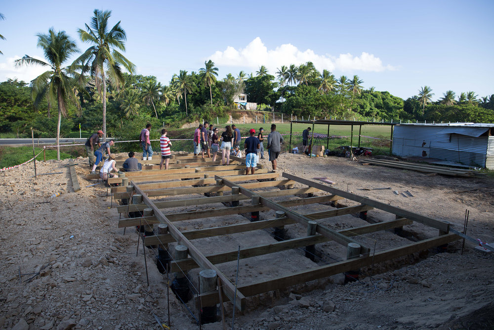 The Naweni site foundations almost ready for the concrete!