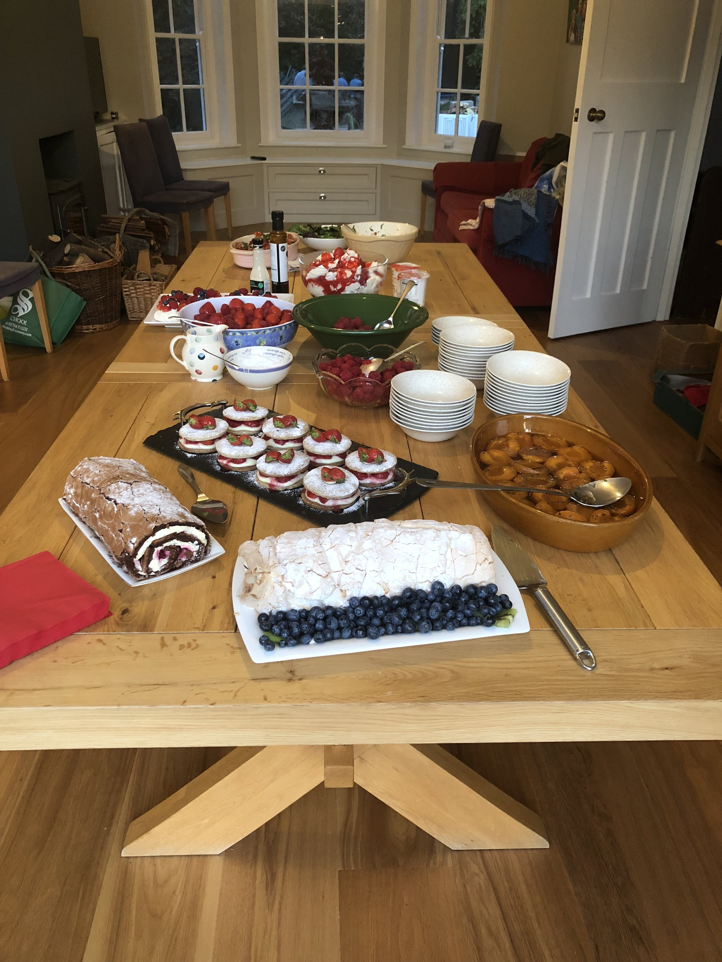 And then the puddings- definitely going to need to up the pre season training after these BakeOff beauties!