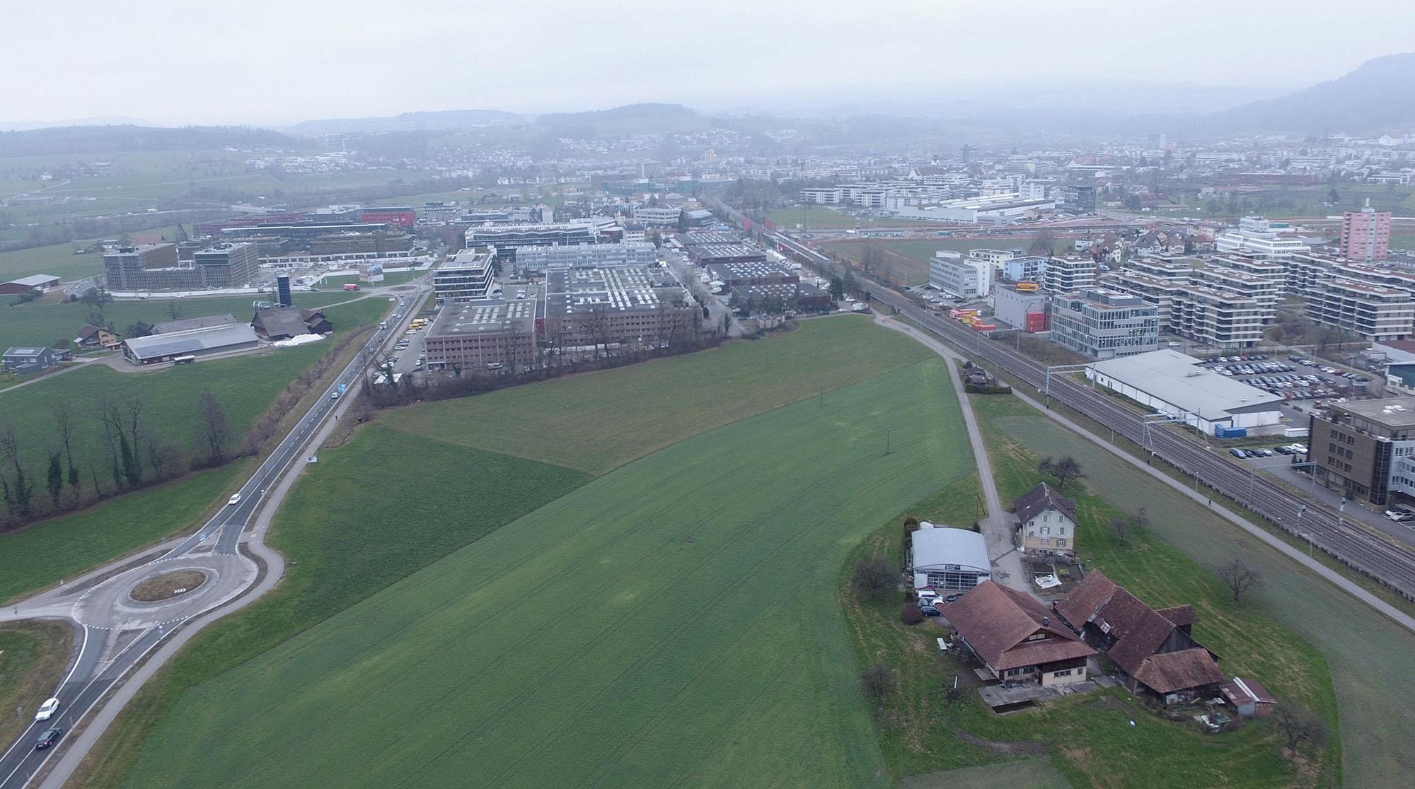 Blick über das Unterfeld in Richtung Norden (Foto: Drohnenbild S2L)