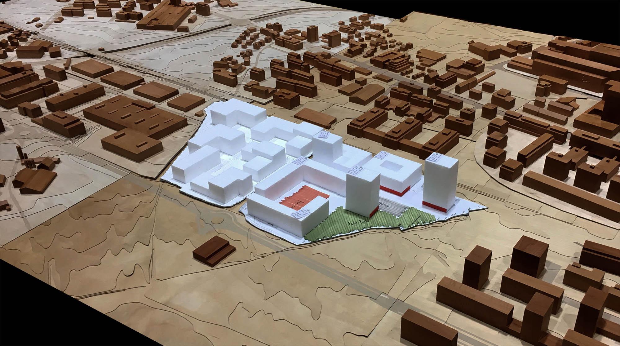 Modell der geplanten Grundstruktur