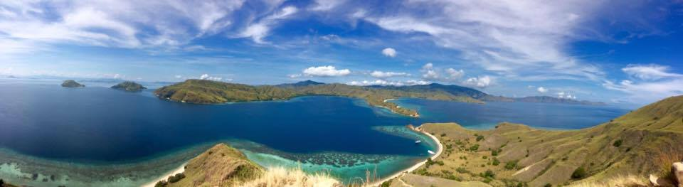 Hilltop view of some of Indonesia's most remote and uninhabited islands.