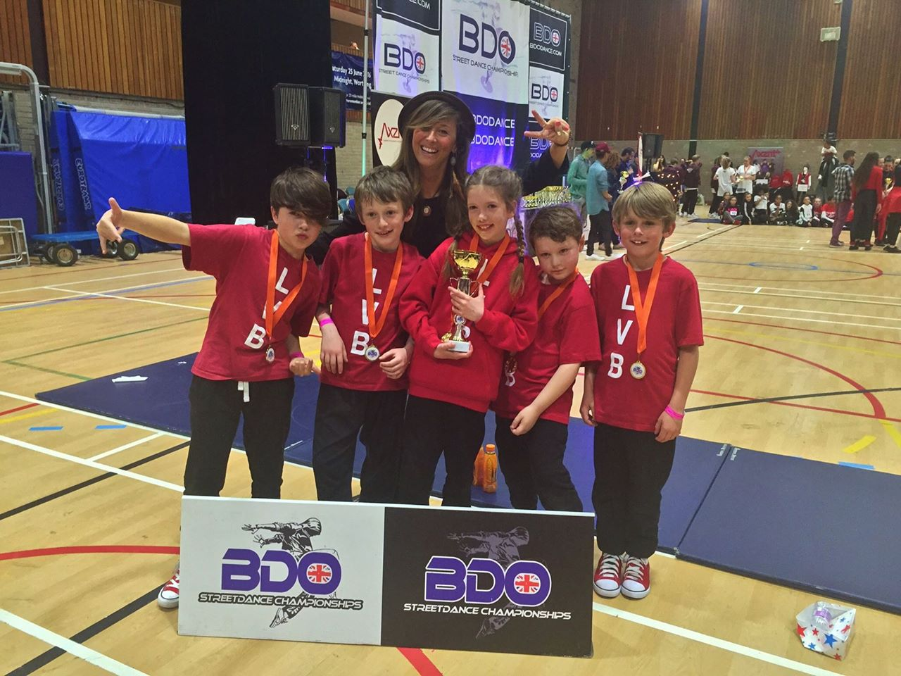 Just after they won their cup and medals!