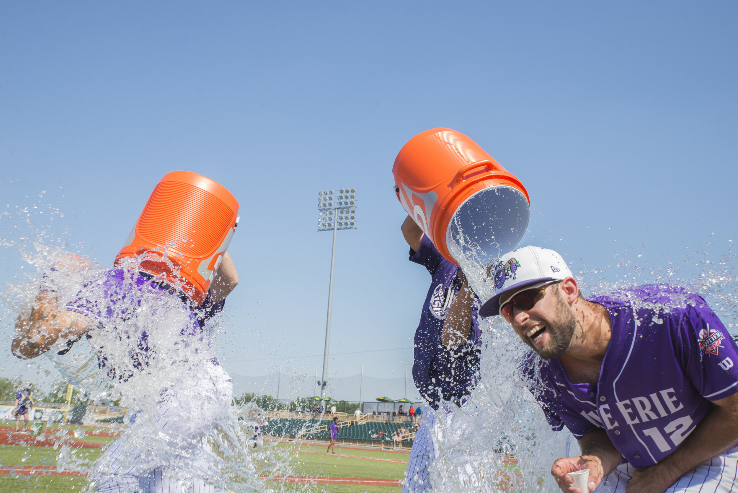Taking an ice bath after being named player of the game.