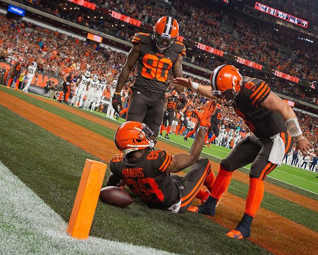 The first prime time Sunday night game for Cleveland since 2008, for @clevelandbrowns