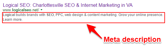 Tip: Use most of the 155 characters Google offers you. I changed my meta description above as it's too short.