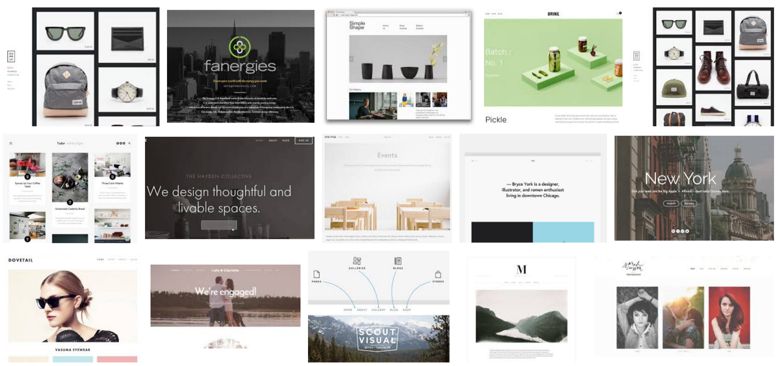 Choosing the best Squarespace templates