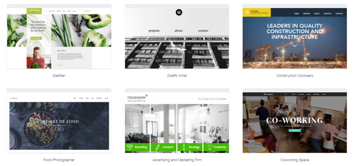 Wix templates fit for SEO