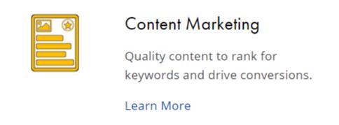 Wix content marketing