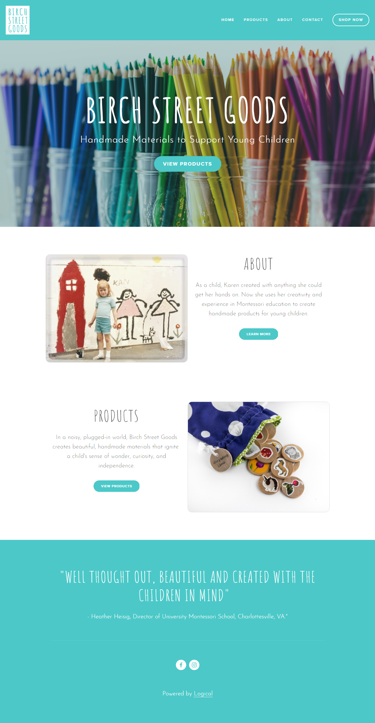 Birch Street Goods - handmade materials for young children