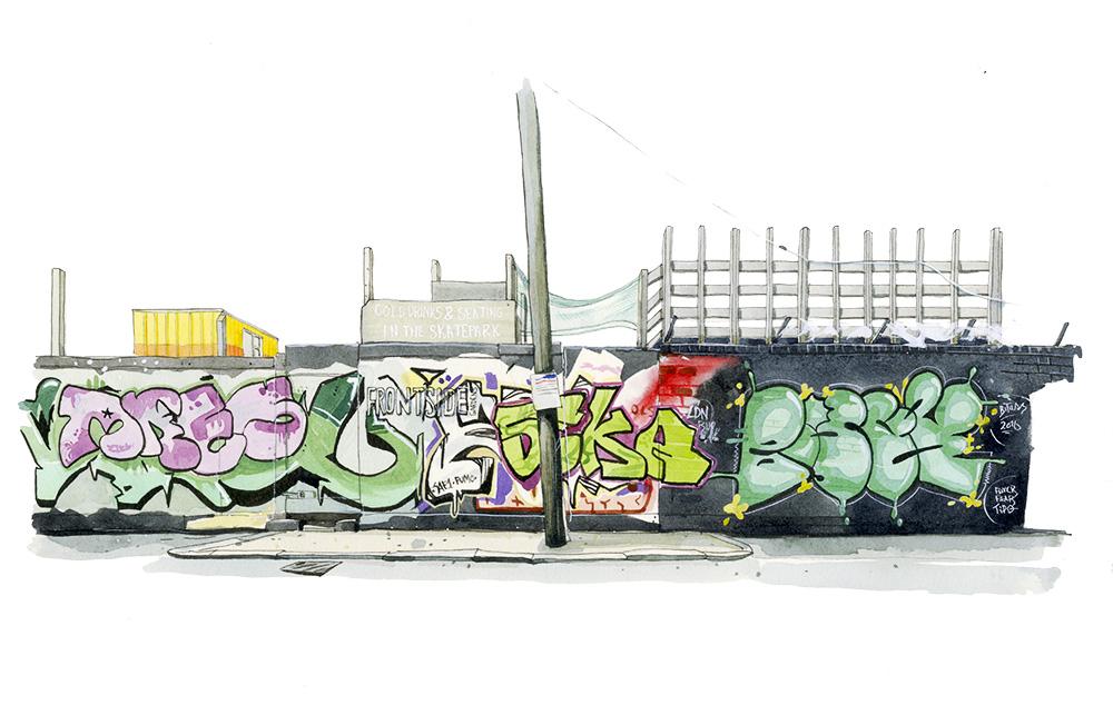 Frontside Gardens Skatepark, London