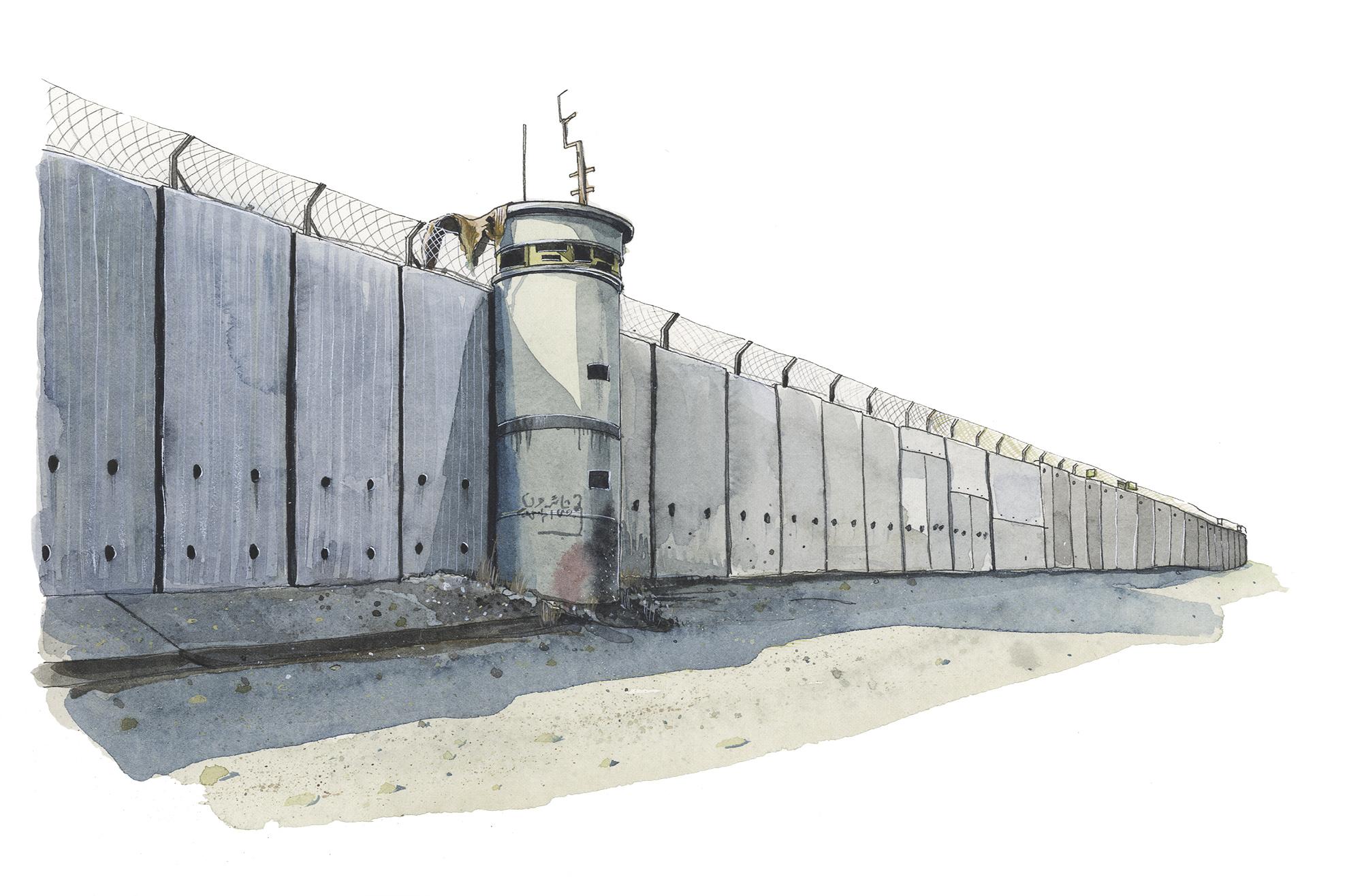 Separation Wall, Qalqilya.