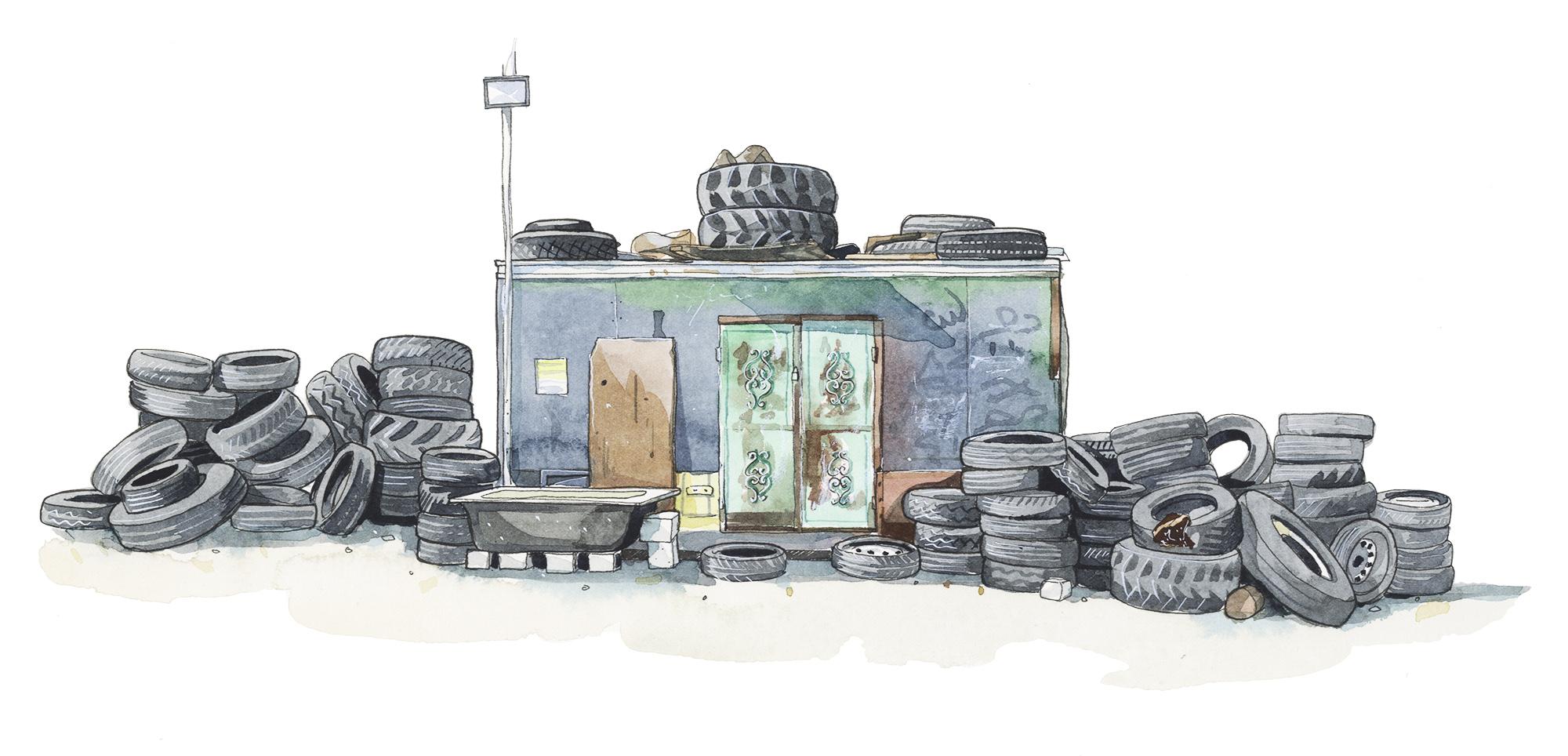 Tyre Shop, Asira ash-Shamaliya.