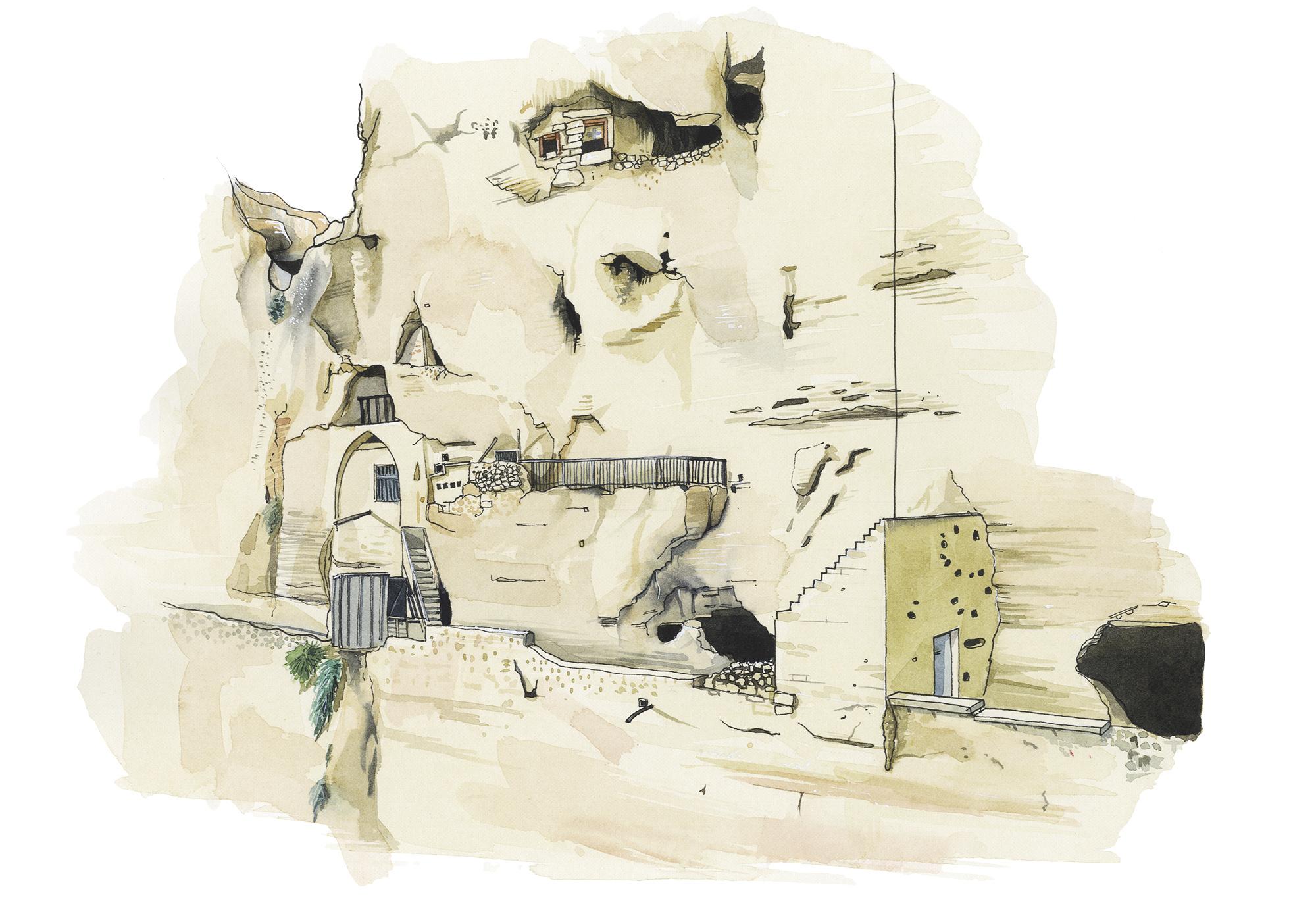 Hermit Cells, Mount of Temptation, Jericho.