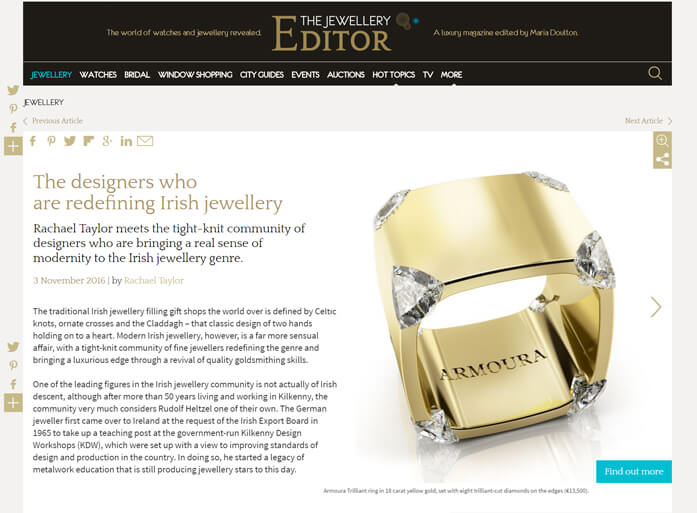 - November 2016, The Jewellery Editor, London.