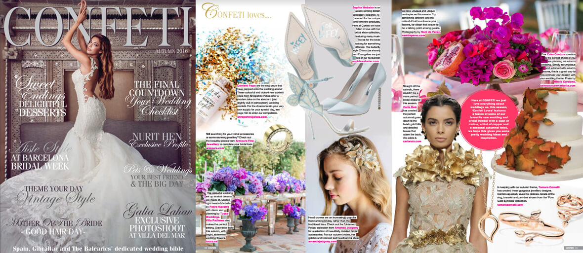 - August 2016, Confeti Wedding Magazine, Spain.