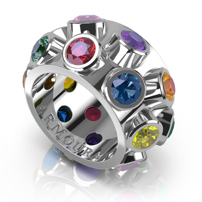White Gold Frog ring with sapphires and rubies.jpg