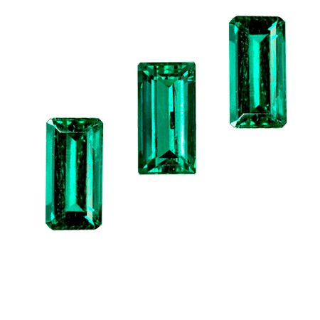 Baguette cut emeralds