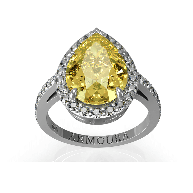 Pear Cut yellow diamond engagement Ring.jpg