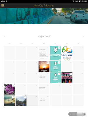 See upcoming events on the calendar.
