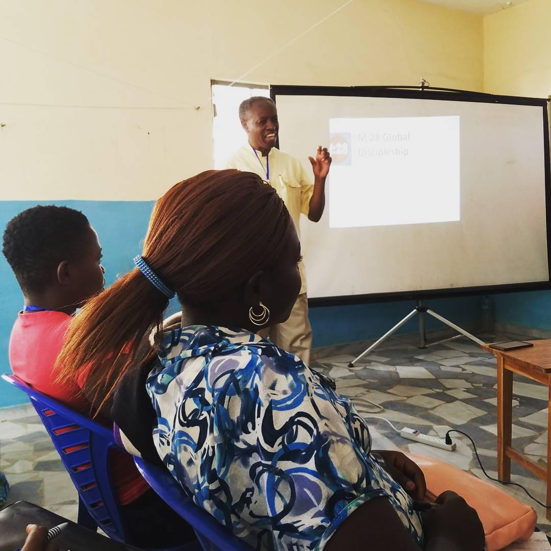 Pastor Solomon teaching
