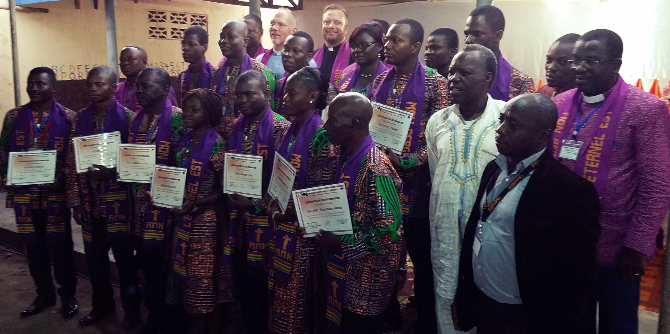 Graduates of the Africa Missions with Nations Missionary Training Institute.