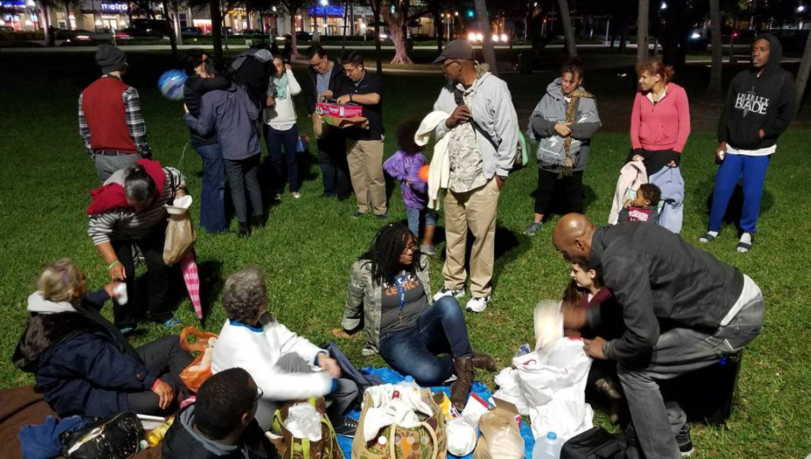 For several years, people from New City and several other Christian organizations went every Monday evening to Arts Park to build relationships with homeless and displaced people who lived near the park, provide food for them, and study God's Word together. Why? To put the kingdom of God on display.